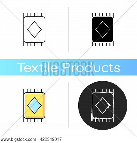 Carpet Icon. Floor Tiles. Bedroom Rug. Interior Decoration. Textile Products, Household Cloths. Dome