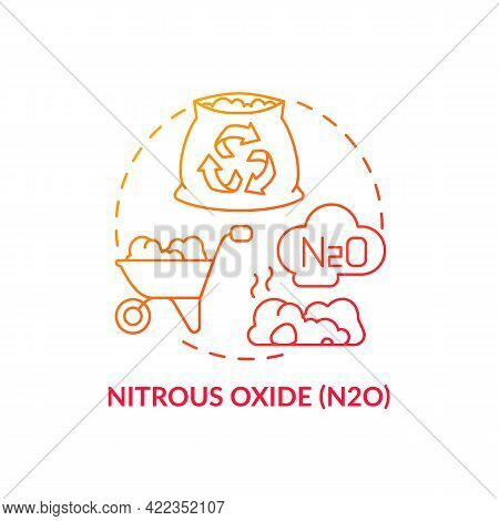 Nitrous Oxide Concept Icon. N2o Abstract Idea Thin Line Illustration. Impact On Global Warming. Live