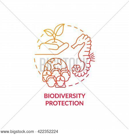 Biodiversity Protection Concept Icon. Carbon Offsetting Abstract Idea Thin Line Illustration. Climat