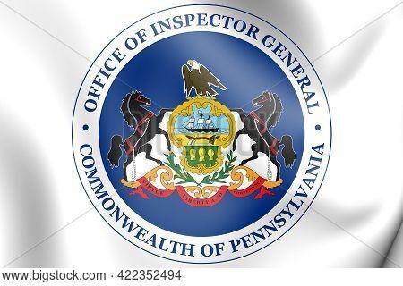 3d Seal Of Inspector General Of Pennsylvania (pennsylvania State), Usa. 3d Illustration.