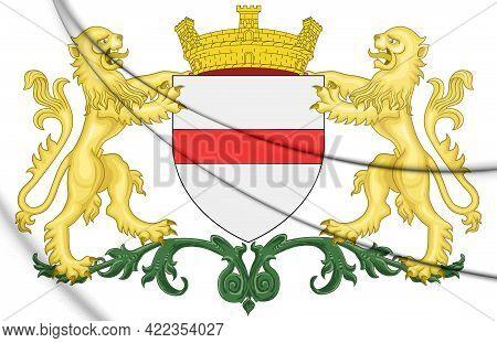 3d Dendermonde Coat Of Arms (east Flanders), Belgium. 3d Illustration.