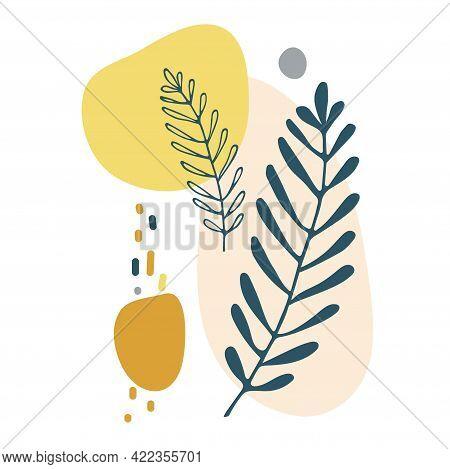 Abstract, Plant, Vector, Floral, Background, Ochre, Celebration, Line, Modern, Shape, Minimal, Minim