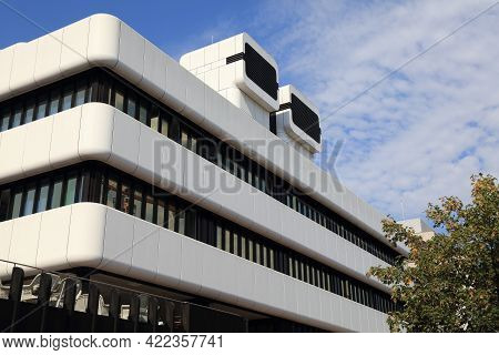 Dortmund, Germany - September 16, 2020: Modern Architecture Of Center For Medicine And Health In Dow