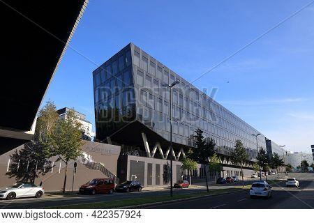 Essen, Germany - September 20, 2020: Funke Mediengruppe Office Buildings In Essen, Germany. Funke Is