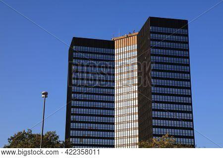 Essen, Germany - September 20, 2020: City Hall (rathaus) Of Essen, Germany. Essen Is The 9th Biggest