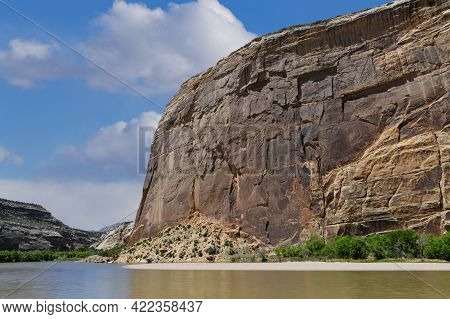 Dinosaur National Monument, Colorado. The Yampa River At Steamboat Rock.