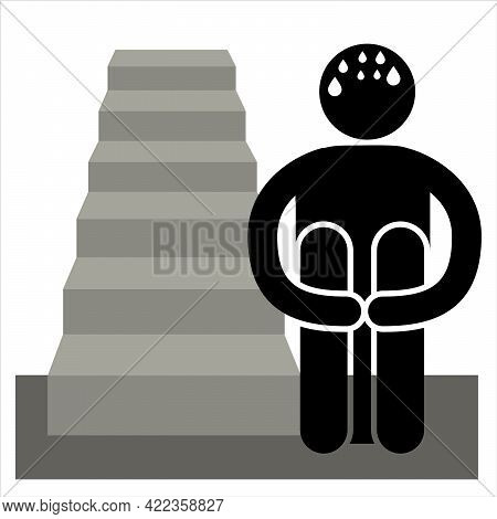 Climacophobia. Phobia Fear Of Climbing, Especially Using Stairs.