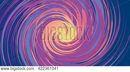 Spinning Background. Swirling Tornado Of Colors. Flat Whirlpool Cover For Presentation