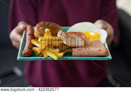 American, Appetizing, Asia, Bacon, Banana Leaf, Bread, Breakfast, Brunch, Closeup, Continental, Cook
