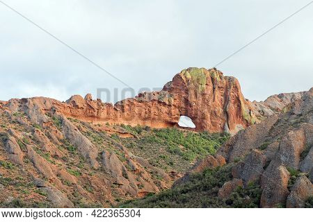 Vensterkop, A Hole In The Mountain At Red Stone Hills In The Western Cape Karoo