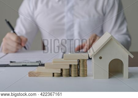 Property Taxes And Real Estate Market Growth. Property Investment And House Mortgage Financial Conce