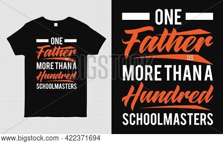 Father's Day Cool T-shirt Design Featuring Message