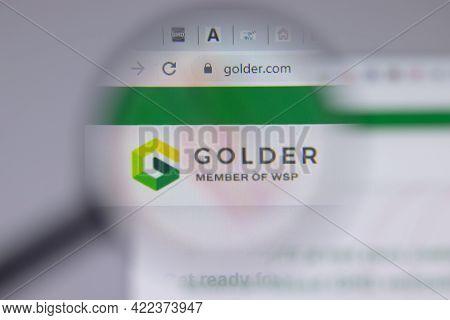 Los Angeles, California, Usa - 1 June 2021: Golder Associates Logo Or Icon On Website Page, Illustra