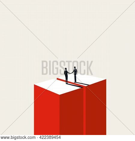 Business Negotiation And Deal Making Vector Concept. Symbol Of Hand Shake, Agreement, Achievement. M