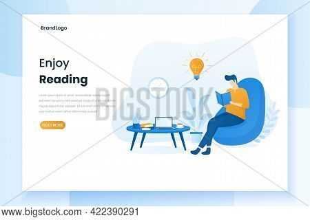 Men Are Relaxing And Reading Books