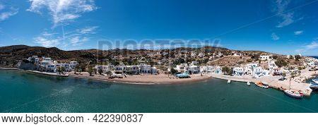 Kythnos Island, Greece. Port Panorama, Aerial Drone View