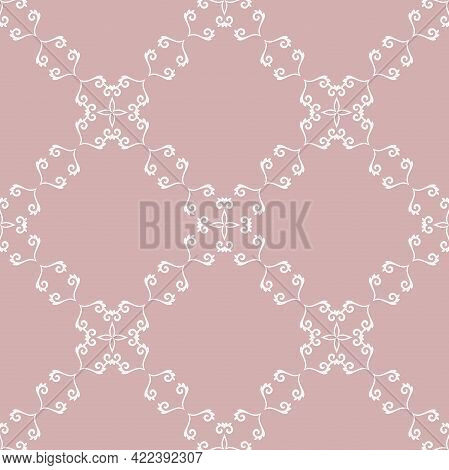 Orient Vector Classic Diagonal White Pattern. Seamless Abstract Background With Vintage Elements. Or