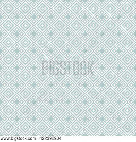 Geometric Abstract Vector Pattern. Geometric Modern Light Blue And White Ornament. Seamless Modern B