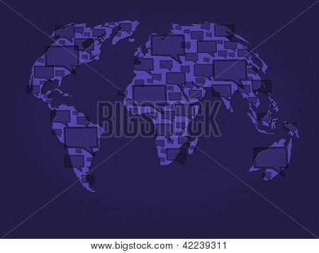 world communication background