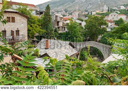 Mostar Old Town cityscape, Bosnia and Herzegovina