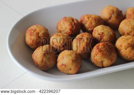 Air Fried Chicken Meat Balls. Home Made.