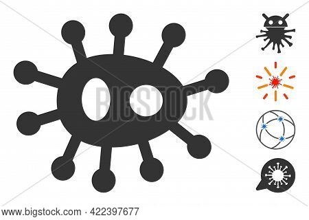 Bacilla Icon Designed In Flat Style. Isolated Vector Bacilla Icon Image On A White Background, Simpl