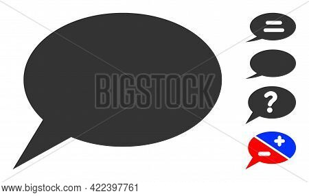 Forum Message Icon With Flat Style. Isolated Vector Forum Message Icon Image On A White Background,