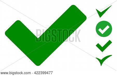 Ok Sign Icon Designed In Flat Style. Isolated Vector Ok Sign Icon Image On A White Background, Simpl