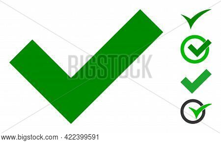 Okay Icon Designed In Flat Style. Isolated Vector Okay Icon Image On A White Background, Simple Styl