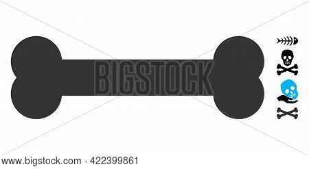 Bone Icon With Flat Style. Isolated Vector Bone Icon Image On A White Background, Simple Style. Some