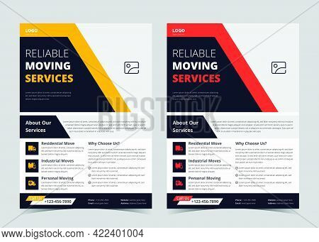 We Are Moving Flyer Template. House Shifting Services Poster Template. House Shifting Agency Flyer P