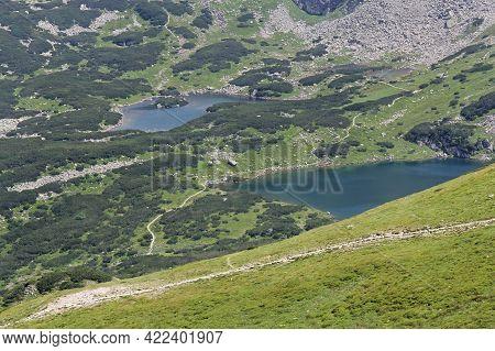 Mountain Landscape, With Lakes, View From Kasprowy Wierch Mountain, Tatra Mountains, Poland. Tatra N