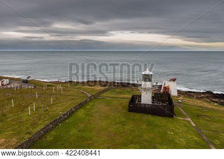 Fraserburgh, Scotland, Uk - 05 February 2016: The Kinnaird Head Lighthouses, One An Original Stephen