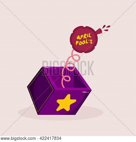 Isolated Box Harlequin April Fools Humor Icon- Vector