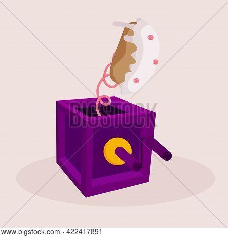 Isolated Box Cake April Fools Humor Icon- Vector