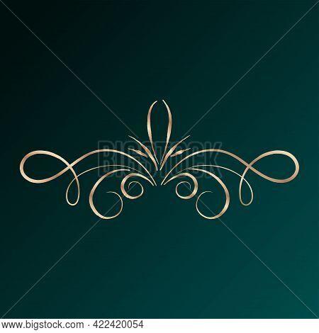 Gold Royal Arabesque Art Arabic Dark Background Vector Illustration