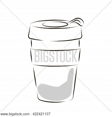 Isolated Cup Cartoon Coffee Drink Draw Vector Illustration