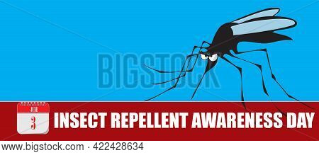 Card For Event June Day Insect Repellent Awareness Day. Information