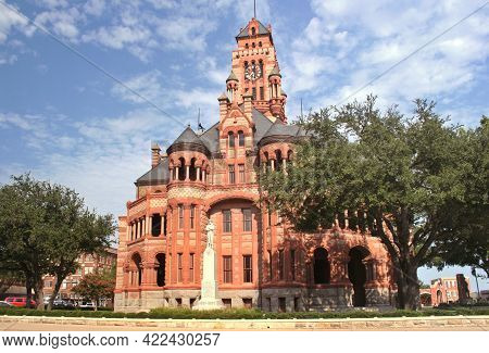 Ellis County Courthouse Located In Waxahachie, Texas