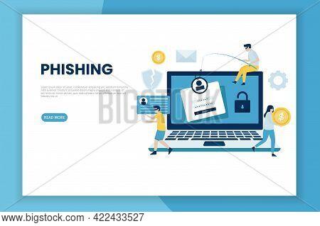 Phishing Attack Illustration Concept
