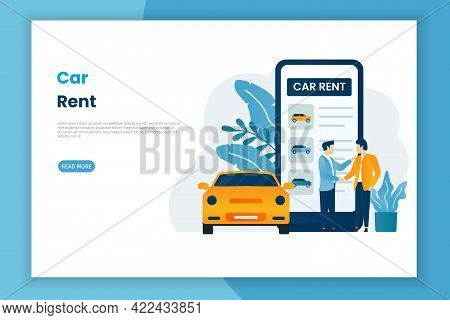 Car Rent Service Advertising Web Page Template