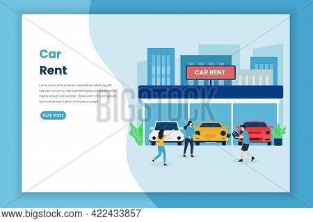 Car Rent Landing Page Illustration Concept