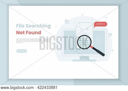 File Search Illustration Not Found