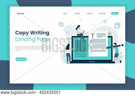 Creative Copy Writing Landing Page Website Template