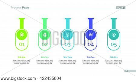 Five Options Infographic Diagram. Step Chart, Option Graph, Layout. Creative Concept For Infographic