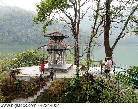 Small Shrine Hindu Angel God Deity Nepalese For Nepali And Foreign Traveler Travel Visit Respect Pra