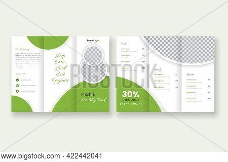Healthy Resaturant Brochure Tri-fold Template