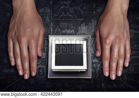 Old computer as symbol of outdated technology