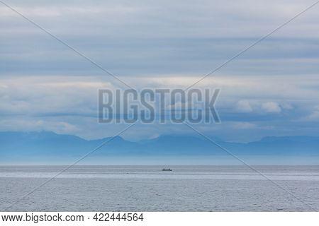 Boardwalk in Vancouver island, British Columbia, Canada