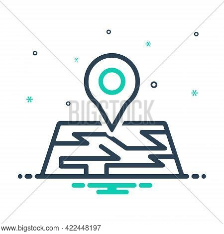 Mix Icon For Map Location Pointer App Thumbtack Localization Navigation Pin Place Route Gps Destinat